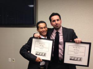 Photo of Tung Nguyen and Scott Budnick